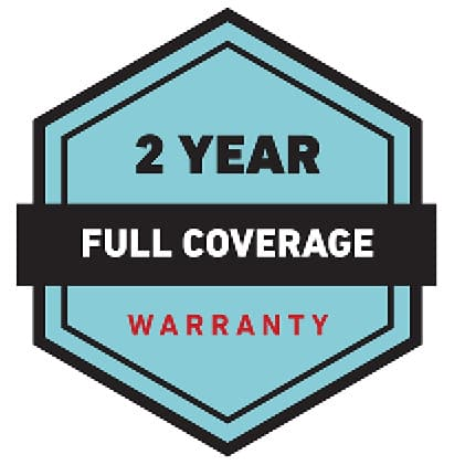 iconic graphic stating Toro's warranty