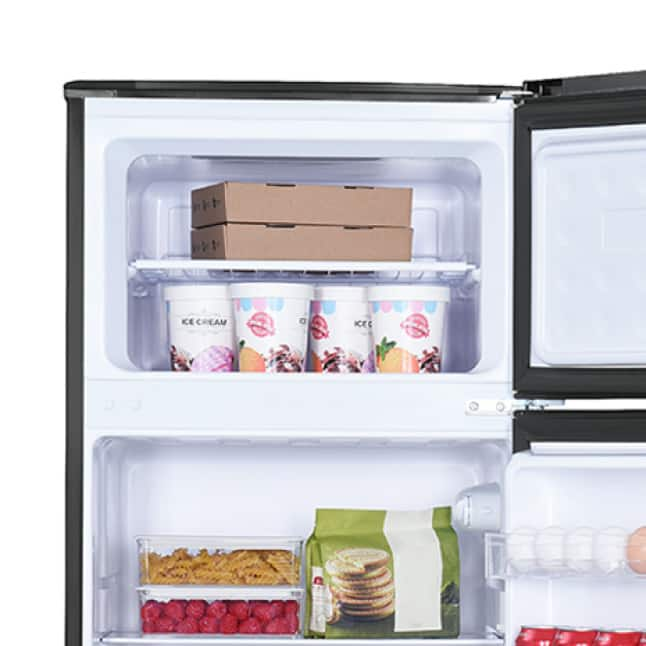 Separate top freezer with manual defrost