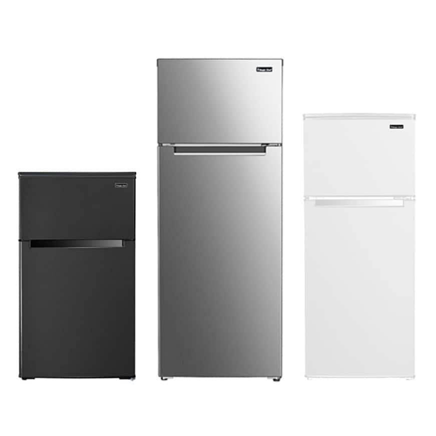 Magic Chef 2-Door Mini Fridge comes in a variety of sizes and colors