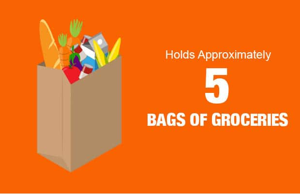 Hold Approximately 5 bags of groceries