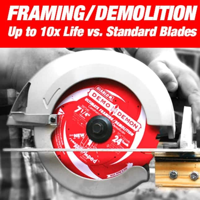 This is an image of a Diablo small diameter framing / demolition circular saw blade.
