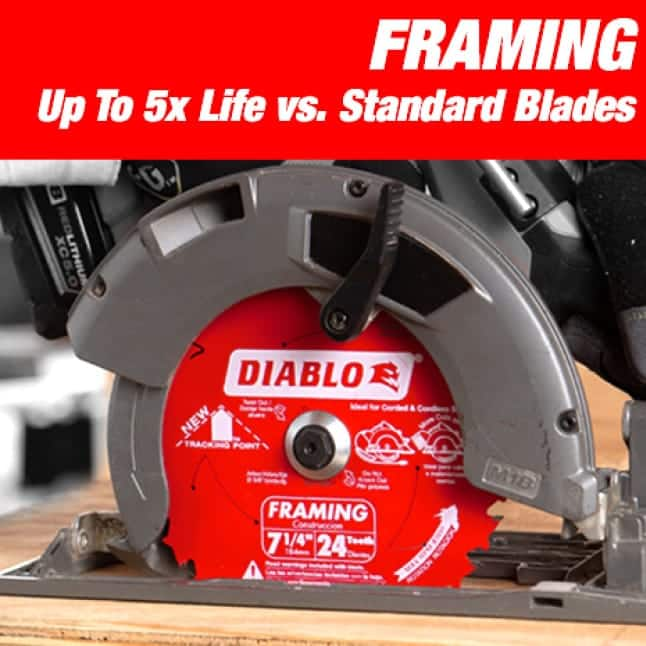 This is an image of a Diablo small diameter framing blade.