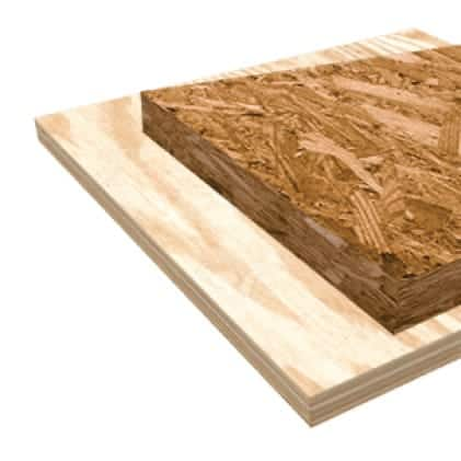 This is an image of OSB and plywood material application.