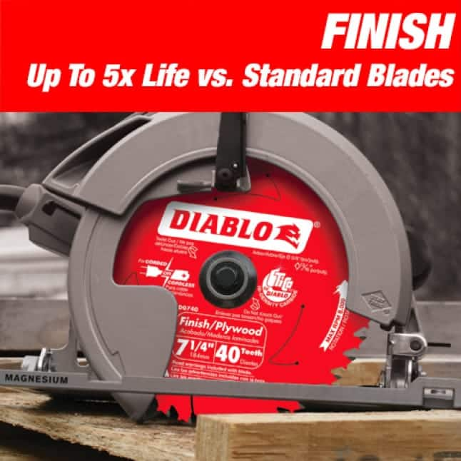 This is an image of a Diablo small diameter finish circular saw blade.