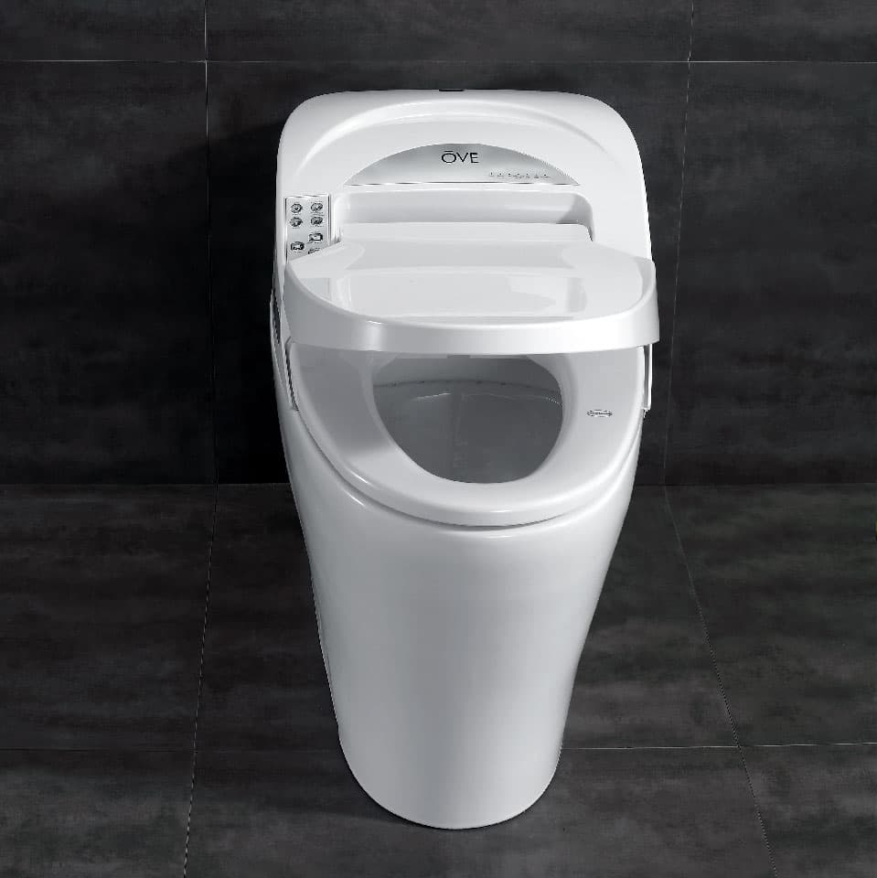 Smart toilet front shot