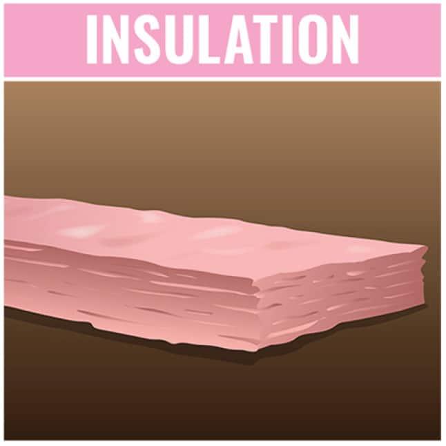 roll of pink fiberglass batt