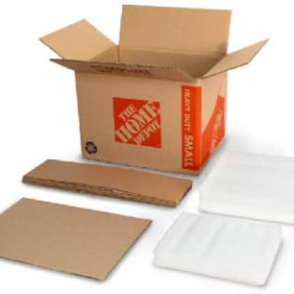 Unassembled dish packing kit