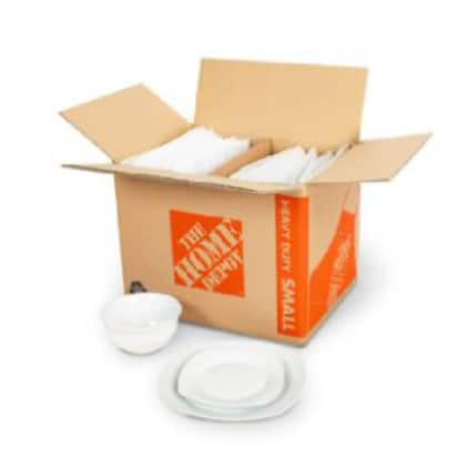 small heavy duty moving box with dish packing kit