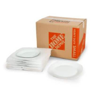 Foam pouches protecting dishes