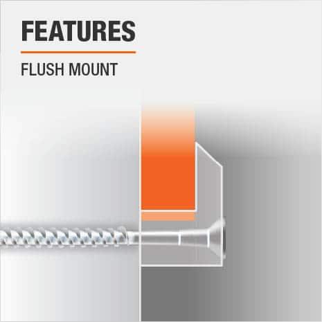 This bathroom vanity mirror is flush mount