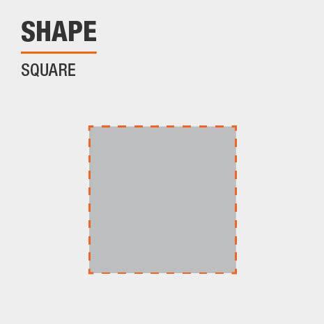 This bathroom vanity mirror shape is Square