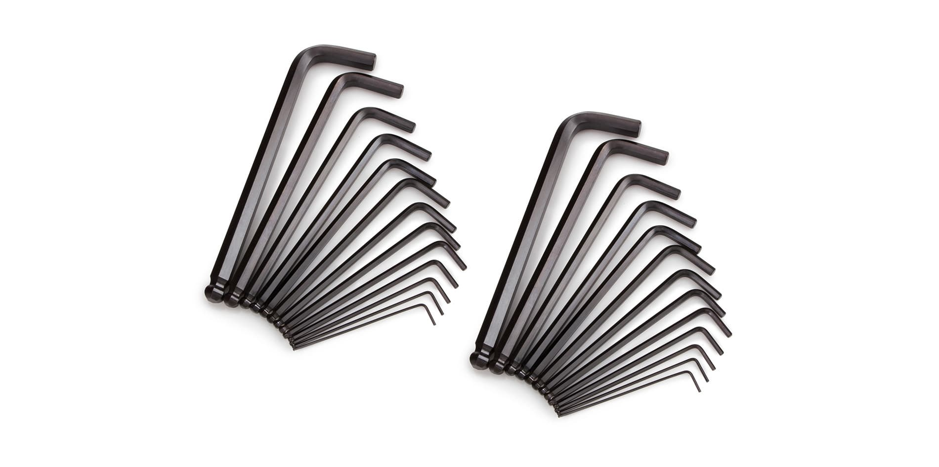 Image showing various sizes of the inch/metric long arm ball end hex key