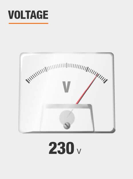 This pumps voltage is 230v.
