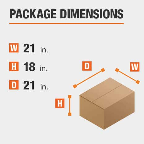 Storage Ottoman Package Dimensions 21 inches wide 21 inches high