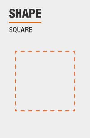 Storage Ottoman has a Square shape