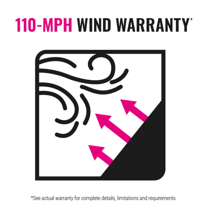 110 MPH Wind Warranty Icon