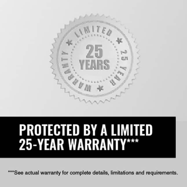 Image of a 25-year limited warranty seal