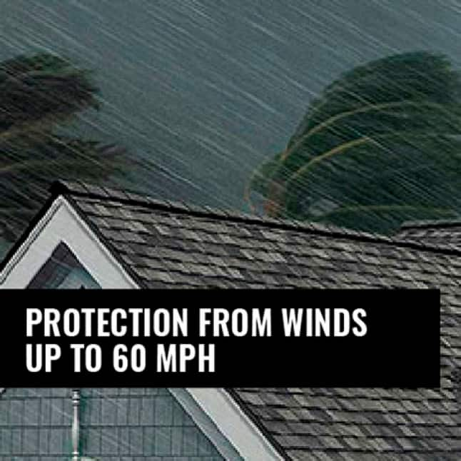 Illustration of strong winds and rain