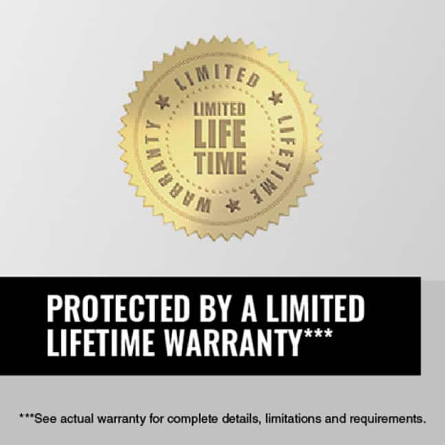 Image of a limited lifetime warranty seal