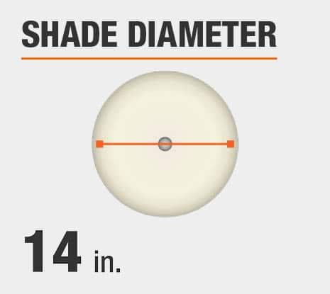 Shade Diameter: 14.00 in.