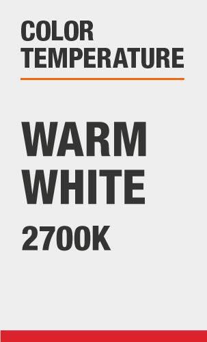 Color Temperature: Warm White 2700K