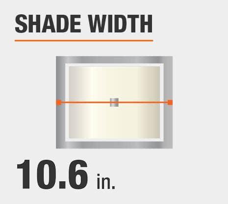 Shade Diameter: 10.6 in.