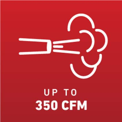 Blow up to 340 CFM icon