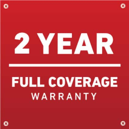 2 year full coverage warranty