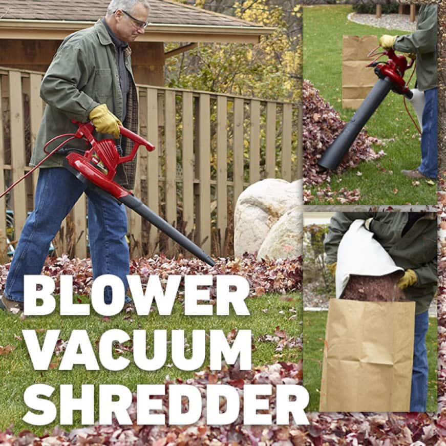 Blower, vacuum and mulcher, all in one