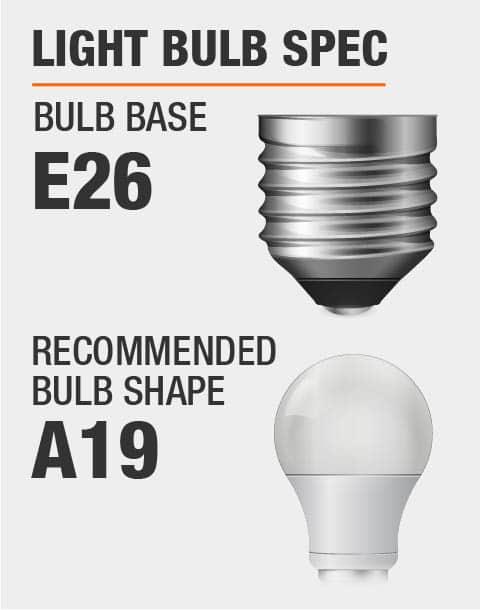 E26 Base A19 Bulb Recommended