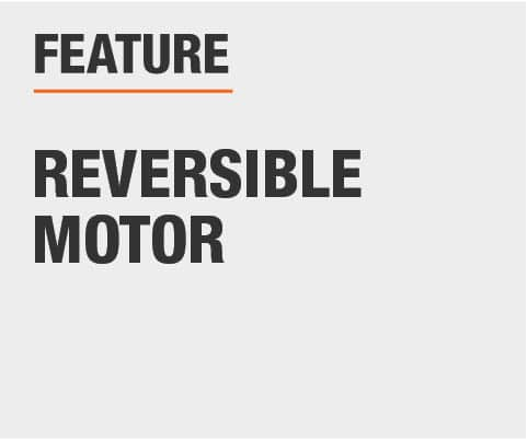 Features include a reversible motor