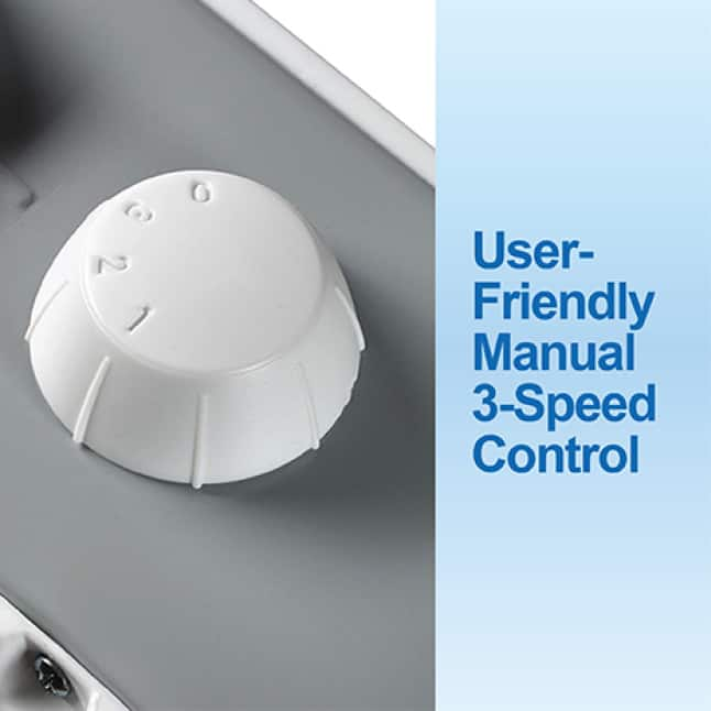 User-Friendly Manual 3-Speed Controls