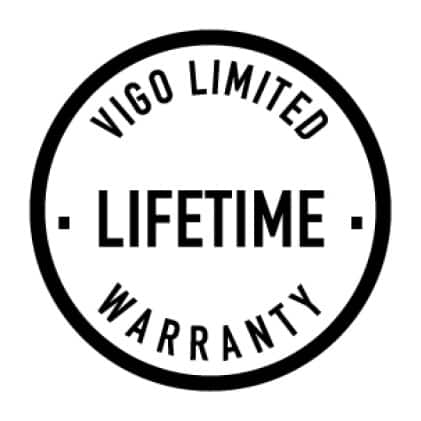 All VIGO bathroom sinks are backed by our Limited Lifetime Warranty