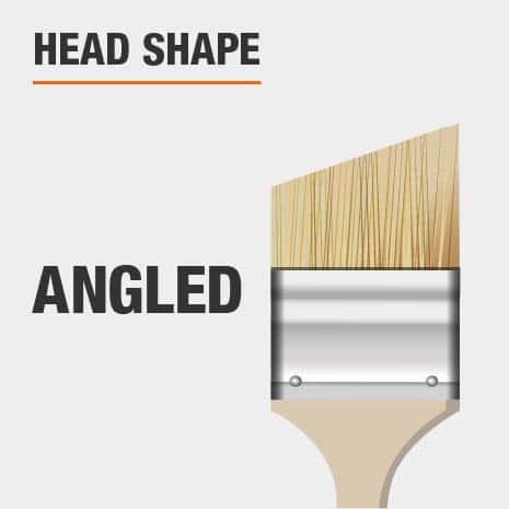 Angled brush head shape