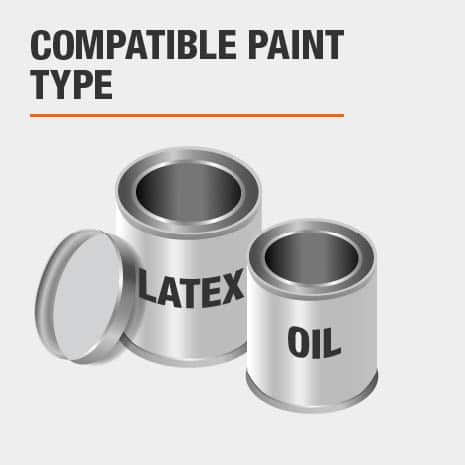 compatible with all sheens of latex and oil based paint and stains