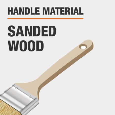 Sanded wooden brush handle
