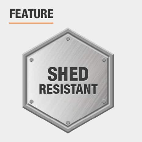 Shed resistant