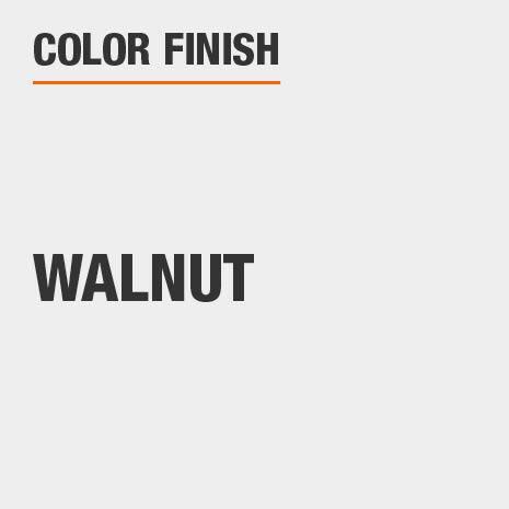 This bathroom vanity mirror color finish is Walnut
