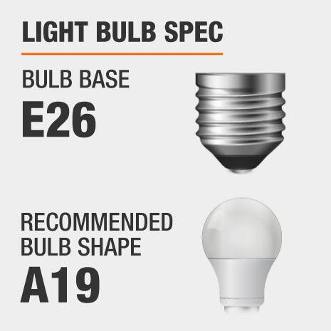 This chandelier requires a E26 bulb base, and a A19-shaped light bulb is recommended.