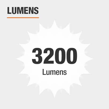 This light has a brightness of 3200 lumens.