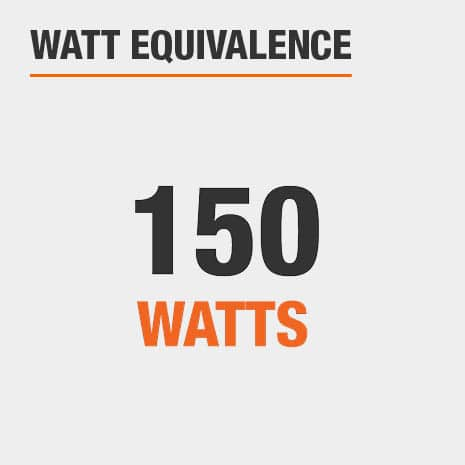 This light has a watt equivalence of 150 watts.