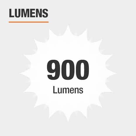 This light has a brightness of 900 lumens.