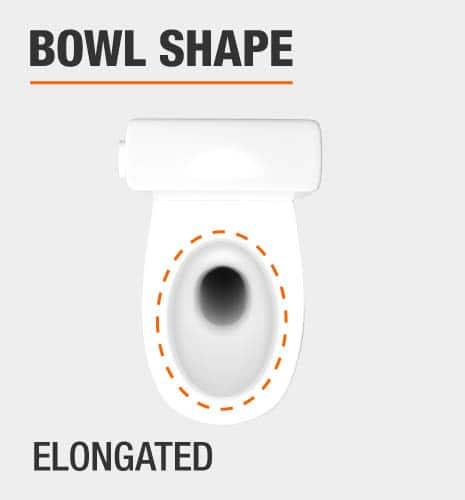 glacier bay glacier bay elongated toilet bowl shape