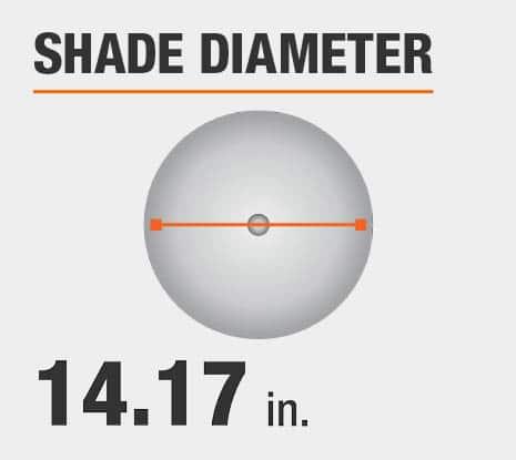 Shade Diameter: 14.17 in.