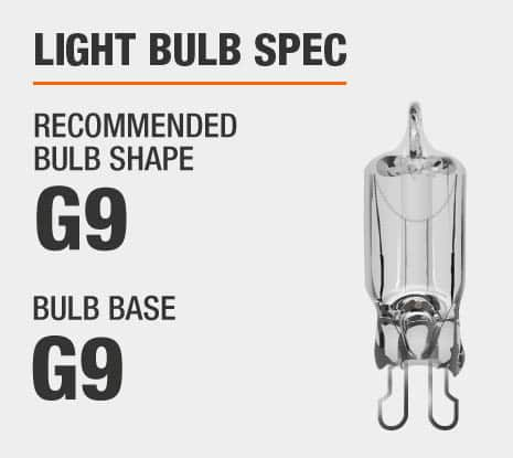 Recommended Bulb Shape: G9, Recommended Bulb Base: G9