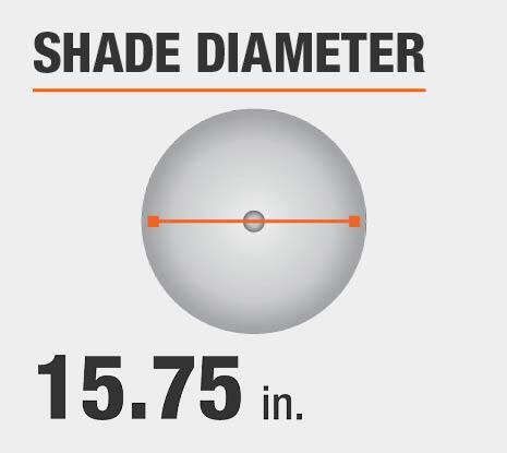 Shade Diameter: 15.75 in.