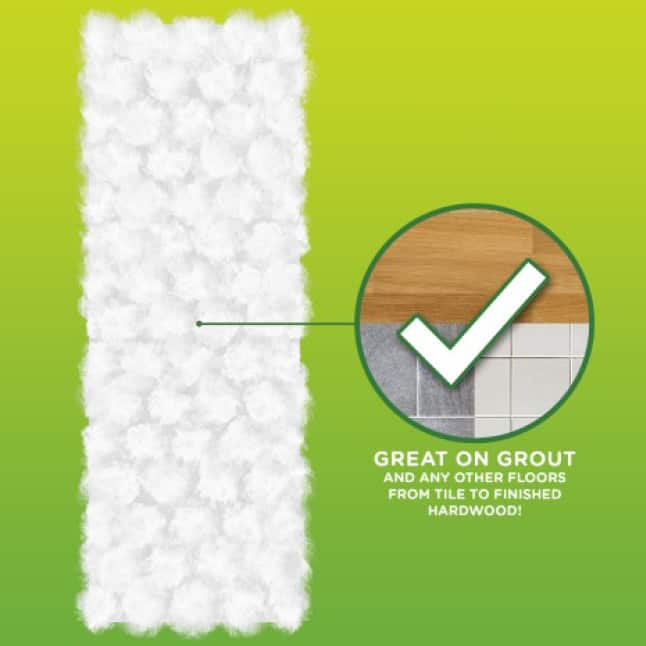 Swiffer Sweeper Heavy Duty Dry cloths are great on grout and any other floor from tile to finished hardwood