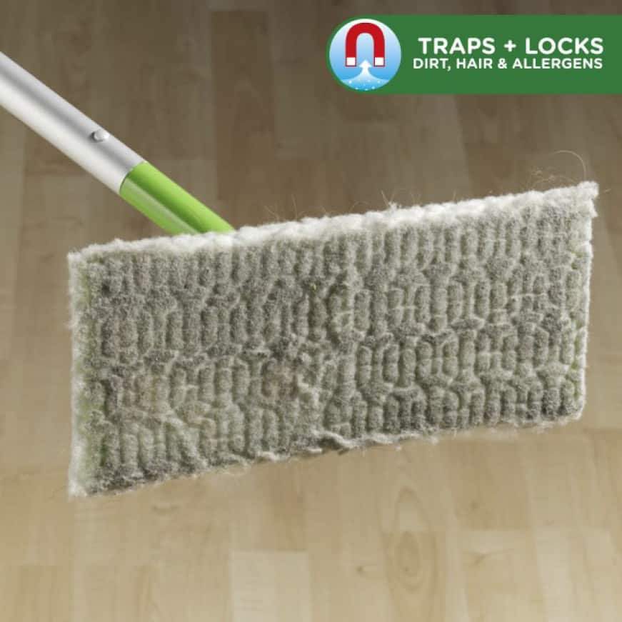 Swiffer Sweeper Dry Cloths have deep textured ridges to trap and lock dirt, dust, hair and allergens.