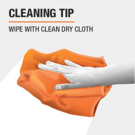 Wipe with clean dry cloth