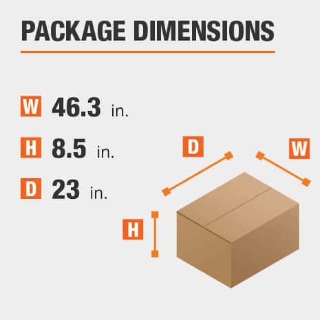 File Cabinet Package Dimensions 46.3 inches wide 23 inches high